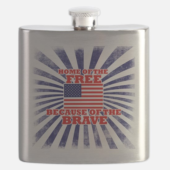 Home of the free because of the brave Flask