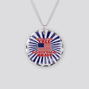 Home of the free because of  Necklace Circle Charm
