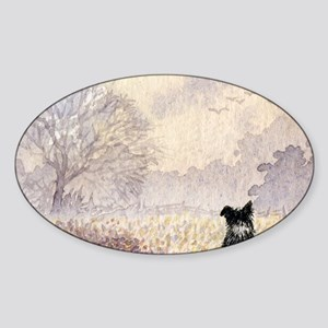 lulu cal Waiting for snow Sticker (Oval)