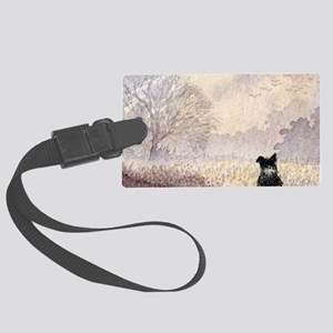 lulu cal Waiting for snow Large Luggage Tag