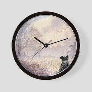 lulu cal Waiting for snow Wall Clock