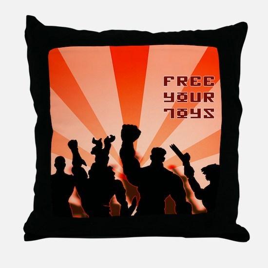 freeyourtoys Throw Pillow
