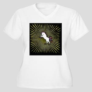 Cool unicorn Women's Plus Size V-Neck T-Shirt