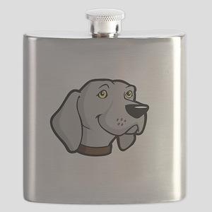 Weimaraners-Rule-dark Flask