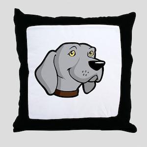 Weimaraners-Rule-dark Throw Pillow