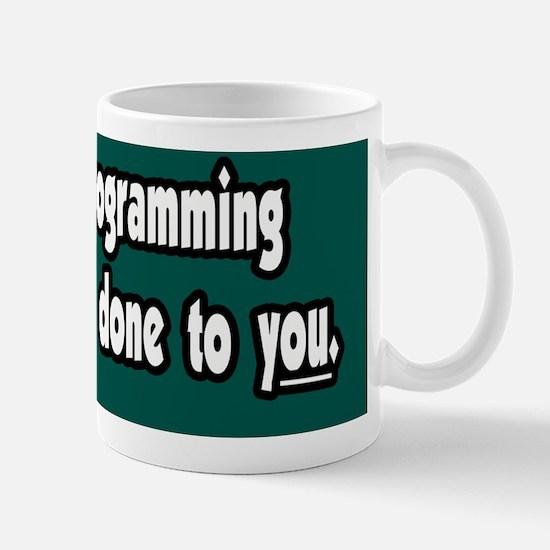 Television-Propaganda-Bumper-Sticker Mug