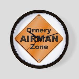 Ornery_Airman_10x10_RK2010 Wall Clock