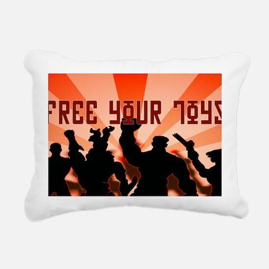 freeyourtoyshat3a Rectangular Canvas Pillow