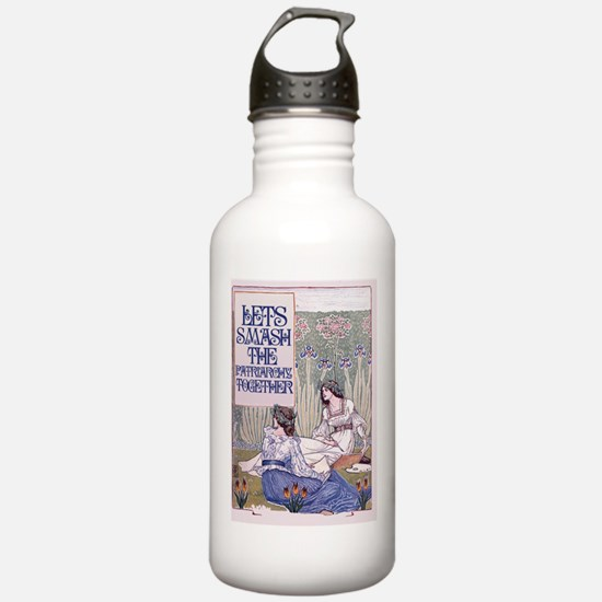 Smash the patriarchy  Sports Water Bottle