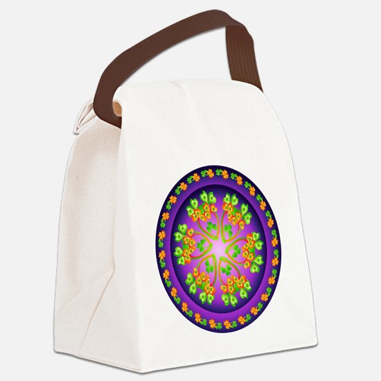 SPRING FLOWER. Canvas Lunch Bag