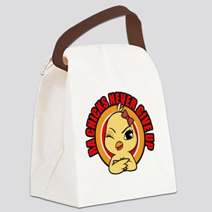 RA Chicks Never Give Up Canvas Lunch Bag