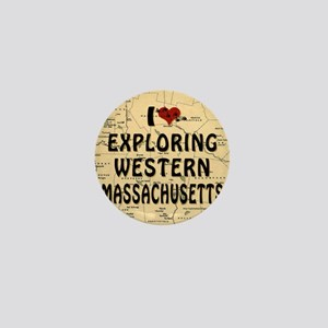 I Love Exploring Western Massachusetts Mini Button