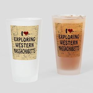 I Love Exploring Western Massachuse Drinking Glass