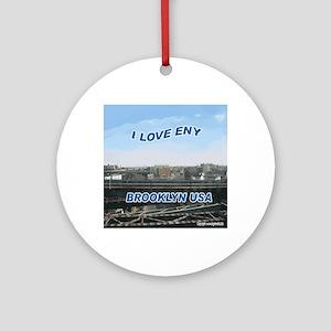 1000_I_LOVE_ENY10 Round Ornament