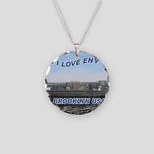 1000_I_LOVE_ENY10 Necklace Circle Charm