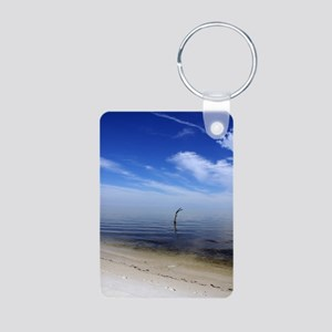 Where the World Ends signu Aluminum Photo Keychain