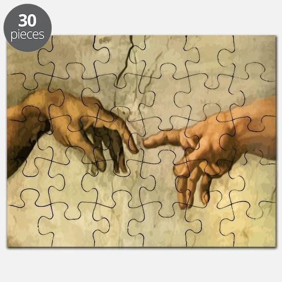 Creation_of_Man_Michaelangelo_12x12 Puzzle