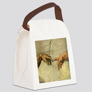 Creation_of_Man_Michaelangelo_12x Canvas Lunch Bag