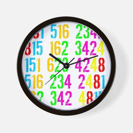 Phone Numbers -dk Wall Clock