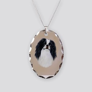 Japanese Chin Necklace Oval Charm