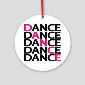 dance-times-five-2-color Round Ornament
