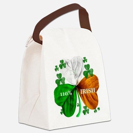 irish_shamrock b Canvas Lunch Bag