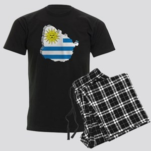 MapOfUruguay2 Men's Dark Pajamas