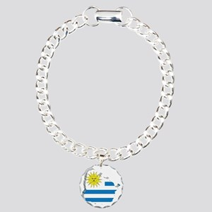 MapOfUruguay2 Charm Bracelet, One Charm