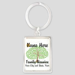 Customizable Family Reunion Tree Keychains