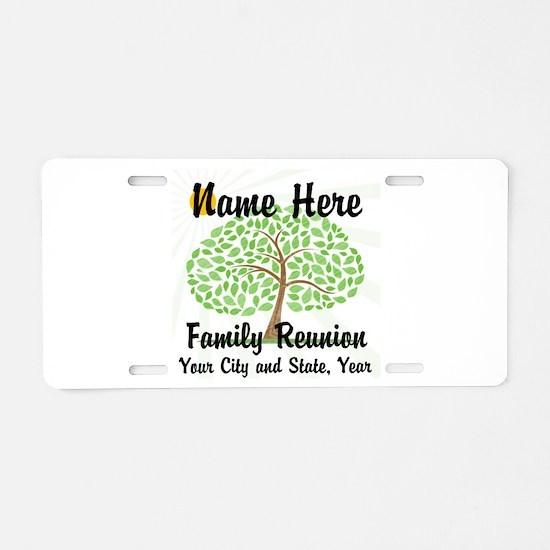 Customizable Family Reunion Tree Aluminum License