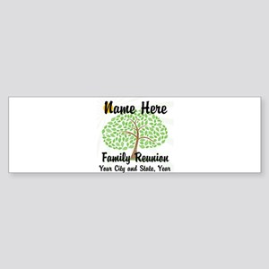Customizable Family Reunion Tree Bumper Sticker