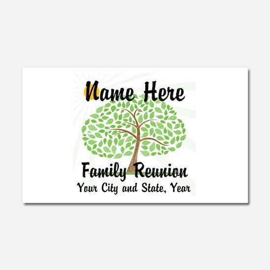 Customizable Family Reunion Tree Car Magnet 20 x 1