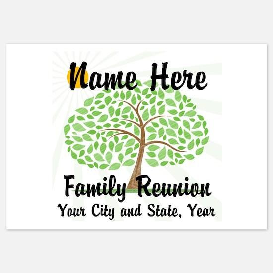 Customizable Family Reunion Tree Invitations