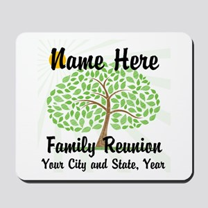 Customizable Family Reunion Tree Mousepad