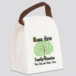 Customizable Family Reunion Tree Canvas Lunch Bag