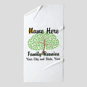 Customizable Family Reunion Tree Beach Towel