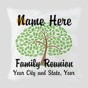 Customizable Family Reunion Woven Throw Pillow