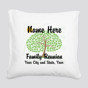 Customizable Family Reunion Tree Square Canvas Pil