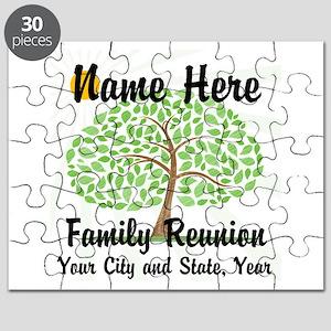 Customizable Family Reunion Tree Puzzle