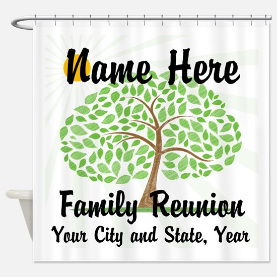 Customizable Family Reunion Tree Shower Curtain