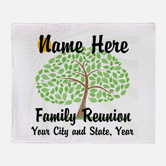 Customizable Family Reunion Tree Throw Blanket