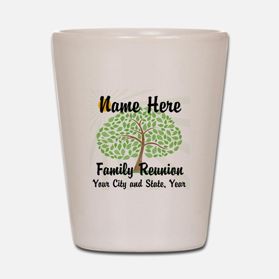 Customizable Family Reunion Tree Shot Glass