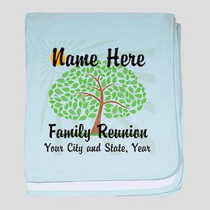 Customizable Family Reunion Tree baby blanket