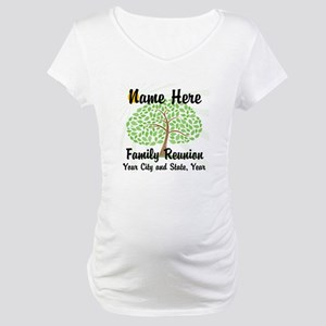 Customizable Family Reunion Tree Maternity T-Shirt