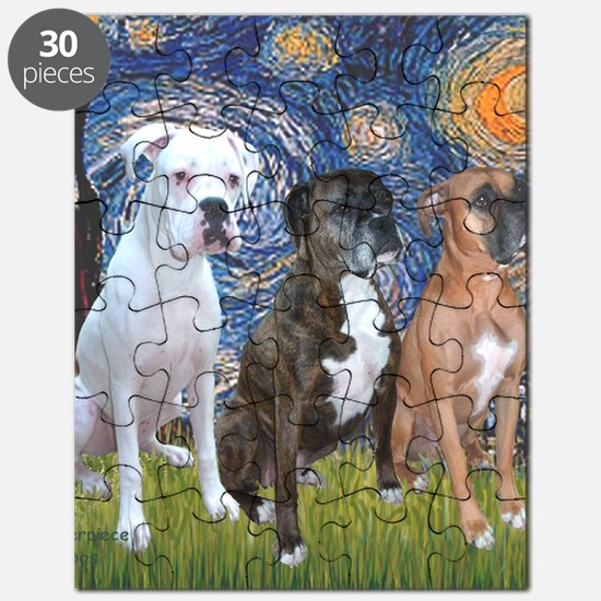 T-Starry Night - 3 Boxers Puzzle