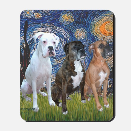 T-Starry Night - 3 Boxers Mousepad