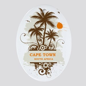 CapeTownpalmtree3 Oval Ornament