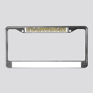 LHS Title Text License Plate Frame