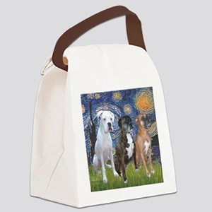 T-Starry Night - 3 Boxers Canvas Lunch Bag