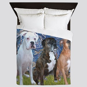T-Starry Night - 3 Boxers Queen Duvet